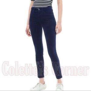 Gap Blue Velvet High Rise True Skinny Ankle Jeans
